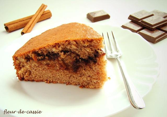 коричный пирог с шоколадом