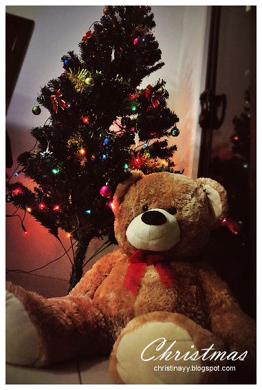 Christmas Tree and Bear