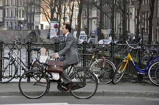 Business man in Amsterdam by Aude | by amsterdamcyclechic