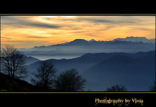 sunset italy mountain italia tramonto montagna mottarone