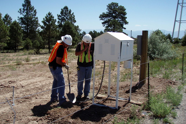 Air monitoring equipment, Los Alamos National Laboratory's Technical Area 21.