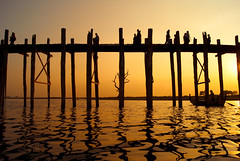 U Bein Bridge by Kokkai Ng