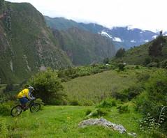 Biking in the Pumamarka Ruins