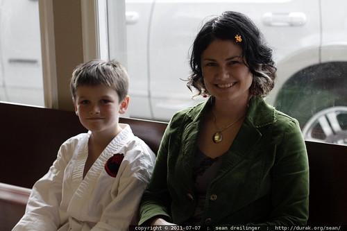 mother & son @ karate class