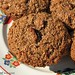 100% whole grain cranberry orange bran muffins made without processed sugar and bran cereal