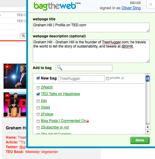 Multi-bagging bookmarklet - Step 2