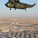 Royal Navy Sea King Mk 4 Helicopter Over Camp Bastion, Afghanitsan