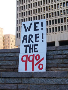Image of protest sign Occupy OKC
