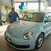 Oprah Community Heroes pick up their 2012 Beetles from LAcarGUY