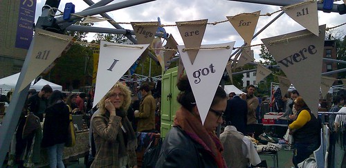 Cereal box bunting