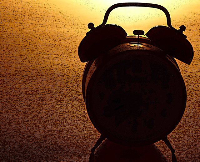 Silhouette of an Alarm Clock from Flickr via Wylio