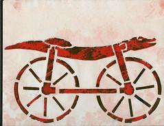 Stencil Art by Janet Bike Girl