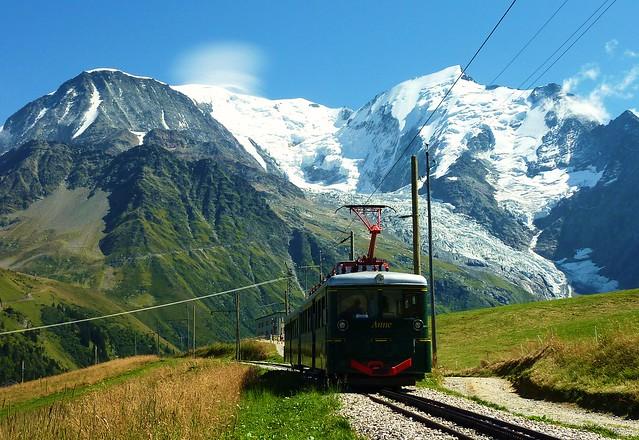 tramway du mont blanc, les houches, bellevue et mont blanc