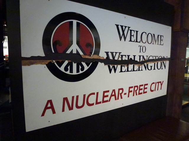 Someone didn't agree with Wellington being a nuclear-free city