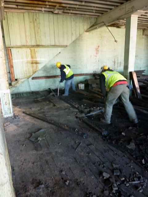 Darrell and Brandon Removing Flooring
