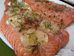 salmon, fish, seafood, garnish, lox, food, cuisine, smoked salmon,