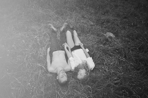 LE LOVE BLOG LOVE STORY LOVE PICS LOVE PHOTOS LOVE QUOTE LOST FOUND BLACK AND WHITE LYING DOWN IN THE GRASS HOLDING HANDS Untitled by Lisa Smit, on Flickr