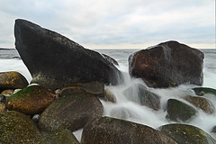 Wet stones at Mølen
