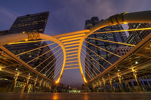Sathorn bridge blue hour