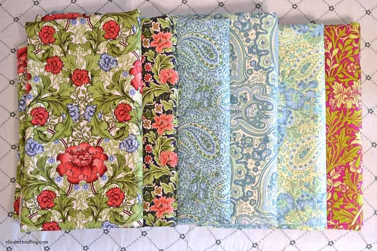 Art nouveau cotton print fabrics