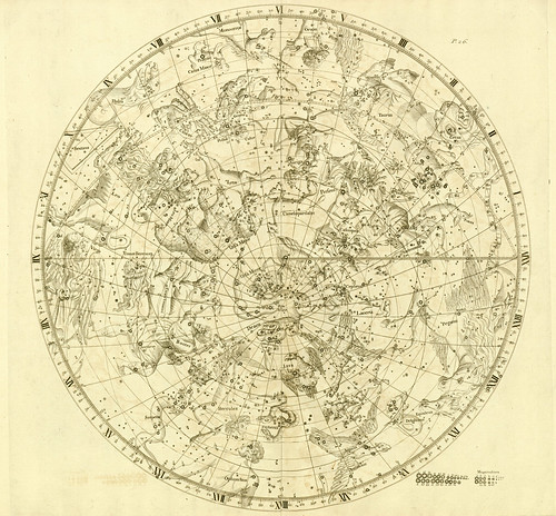 010-Hemisferio Boreal-Atlas Coelestis 1729- John Flamsteed-University of Michigan Shapiro Science Library