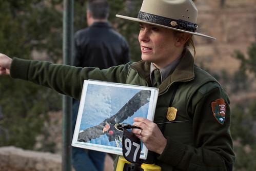 Ranger Elyssa telling us about condors