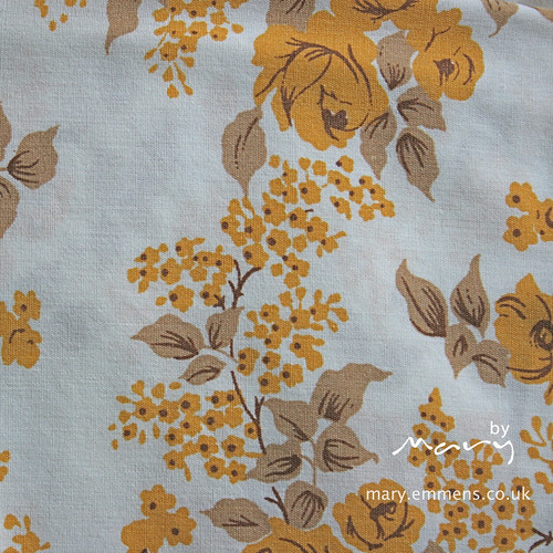 Vintage sheet - yellow floral