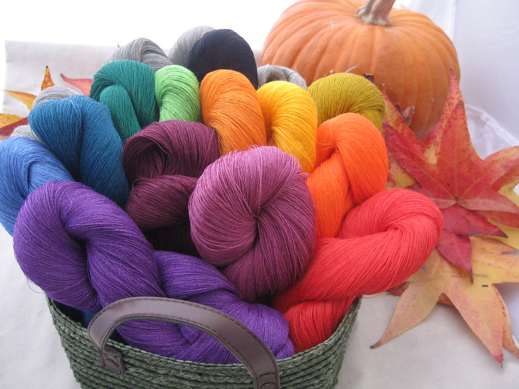 My beautiful linen yarn from Lithuanian etsy shop | Love the… | Flickr