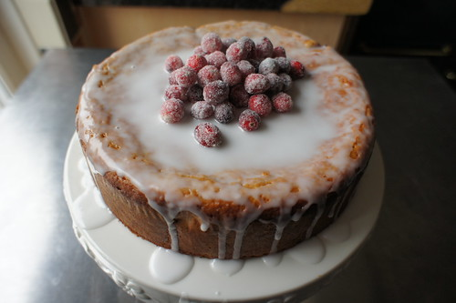 Healthy cranberry cake