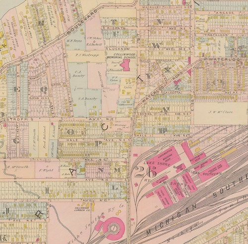 Detail, 1912 Plat Book of the City of Cleveland Volume 1 plate 40