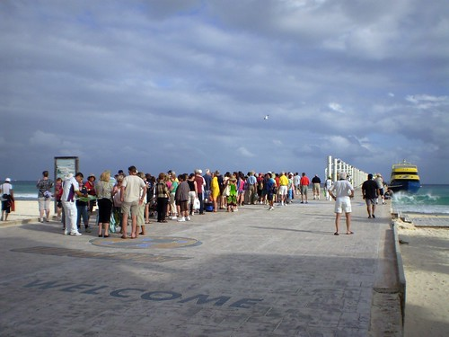 Waiting for the Ultramar ferry to Cozumel, Playa del Carmen