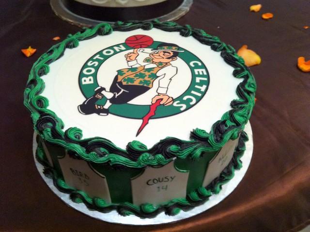 Boston Celtics Groom Cake
