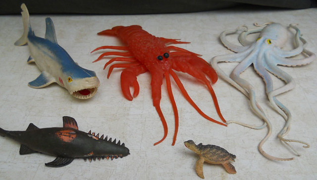 Sea Creature Toys : Rubber sea creature toys flickr photo sharing