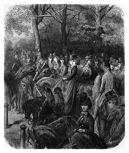 014-A caballo en Hyde Park Corner-London A Pilgrimage 1890- Blanchard Jerrold y Gustave Doré- © Tufts Digital Library
