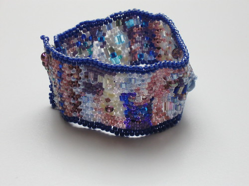 Freeform Peyote Stitch Cuff