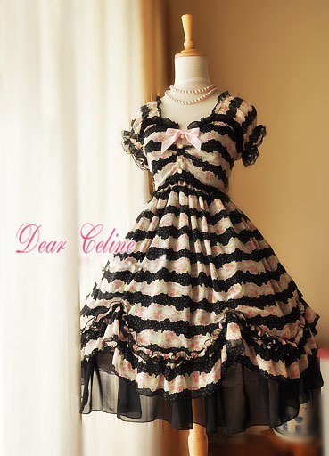 Dear_Celine_Summer_Princess_Printed_Rose_Chiffon_Lolita_Dress