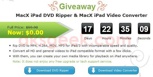 MacXDVD giveaway download