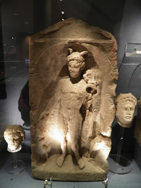 Votive Relief and Heads of Mercury, Corinium Museum (Cirencester)