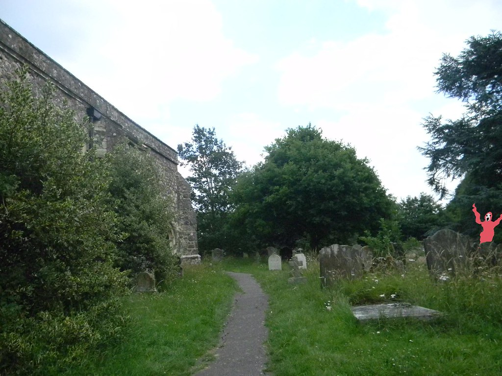 Pluckley churchyard Said to be haunted. By a red lady. Pluckley circular