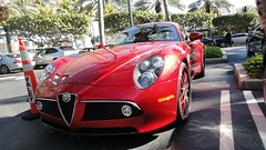automobile(1.0), alfa romeo(1.0), vehicle(1.0), performance car(1.0), automotive design(1.0), alfa romeo 8c(1.0), alfa romeo 8c competizione(1.0), antique car(1.0), land vehicle(1.0), supercar(1.0), sports car(1.0),