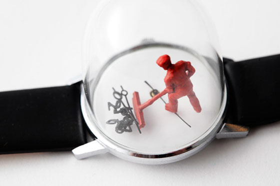 Watch sculptures by Dominic Wilcox, photo via dominicwilcox.com