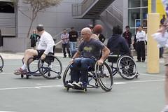 wheelchair racing(0.0), wheelchair(1.0), wheelchair sports(1.0), disabled sports(1.0), sports(1.0), wheelchair basketball(1.0), ball game(1.0), basketball(1.0),