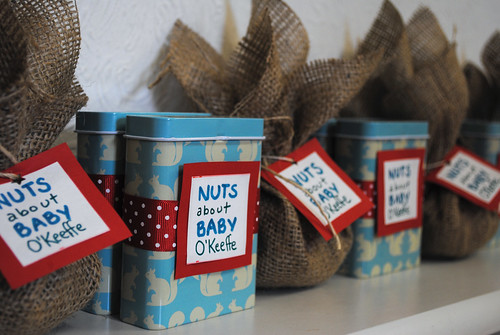 Nuts about Baby - Shower Favors