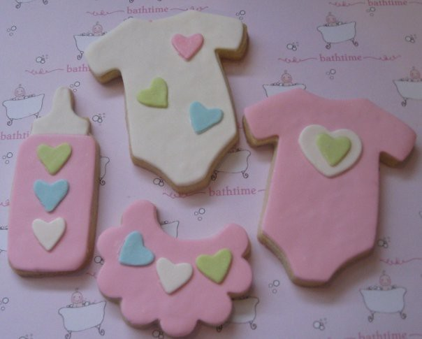 sweetheart baby shower decorated sugar cookies letter2design