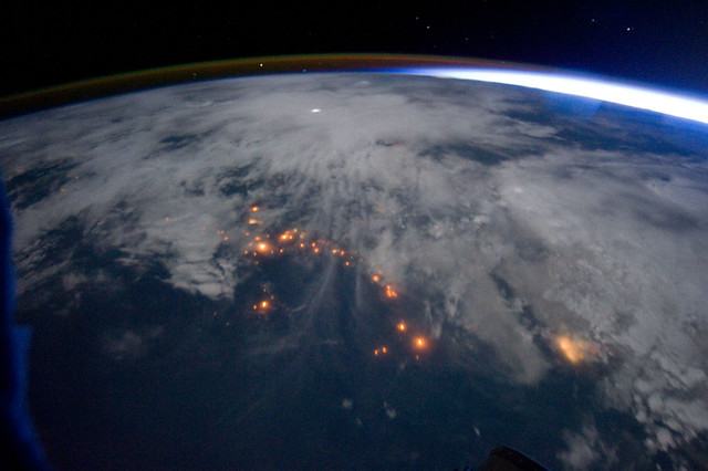 West Coast of Africa at Night (NASA, International Space Station, 09/16/11)