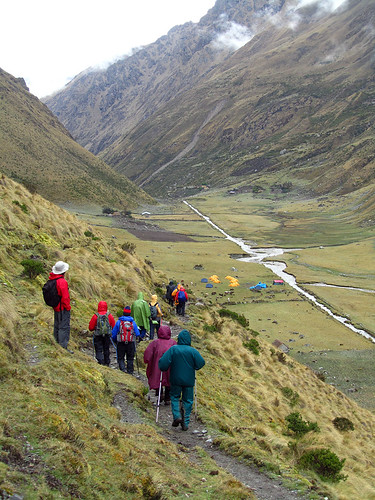 Walking throught the Peruvian Andes