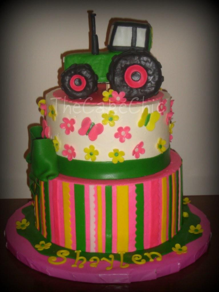 John Deere Pink Cake