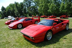 ferrari 348(0.0), ferrari f355(0.0), ferrari testarossa(0.0), race car(1.0), automobile(1.0), ferrari 288 gto(1.0), vehicle(1.0), performance car(1.0), automotive design(1.0), ferrari 308 gtb/gts(1.0), ferrari 328(1.0), land vehicle(1.0), luxury vehicle(1.0), supercar(1.0), sports car(1.0),
