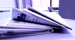 Newspaper grape purple