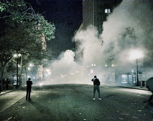 Me; After Work Tuesday; Being Tear Gassed (iPhone)